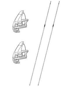 Bremsekabel inkl. deksel til bakhjulssats, par
