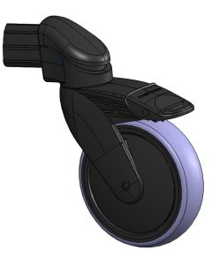 Bakhjul for håndbrems, Ø125 mm