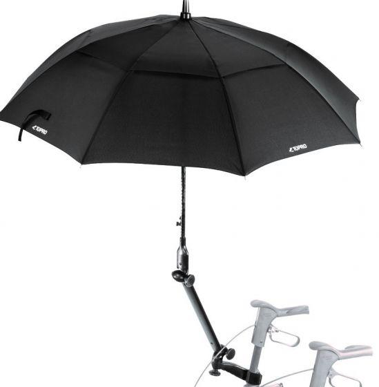 TOPRO paraply med feste (sort)
