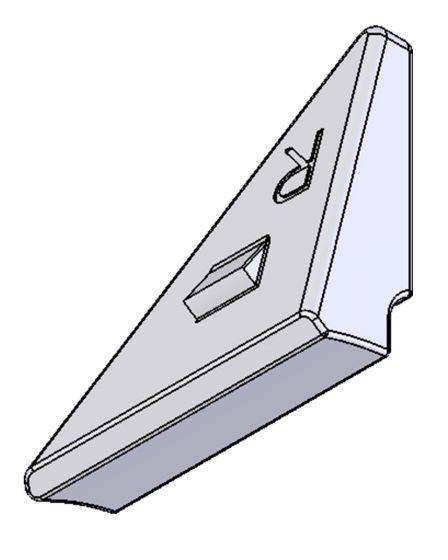Festekloss til rullemotstandssystem (RMS), høyre