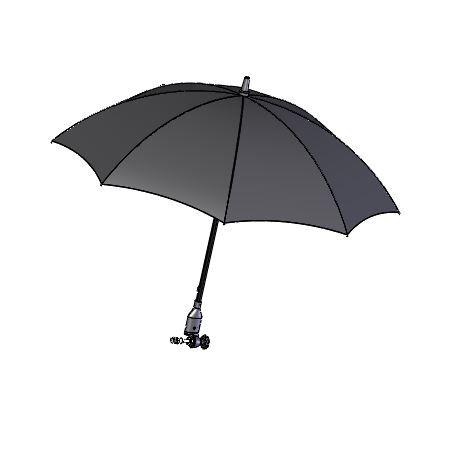 Paraply- / parasollskjerm, svart, uten festearm