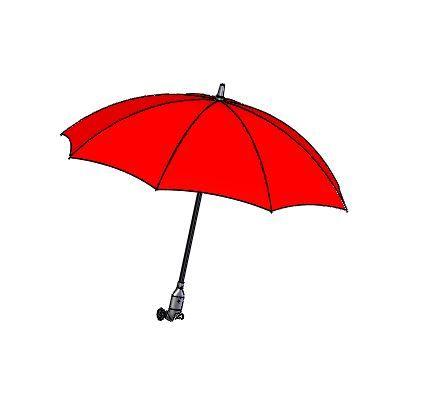 Paraply- / parasollskjerm, rød, uten festearm
